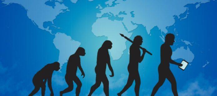 imagen de la evolución tecnológica de la especie