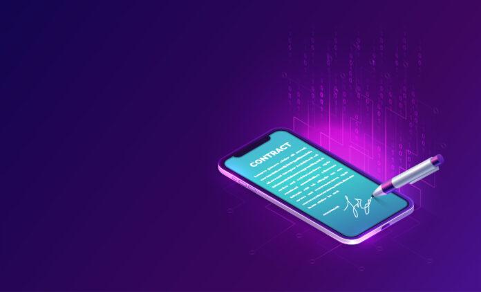 Imagen de telefono móvil para realizar la firma digital